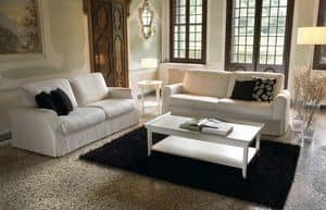 Elite, Wooden sofa, sprung with elastic straps