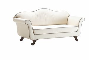 Enrica, Classic sofa with totally removable upholstery