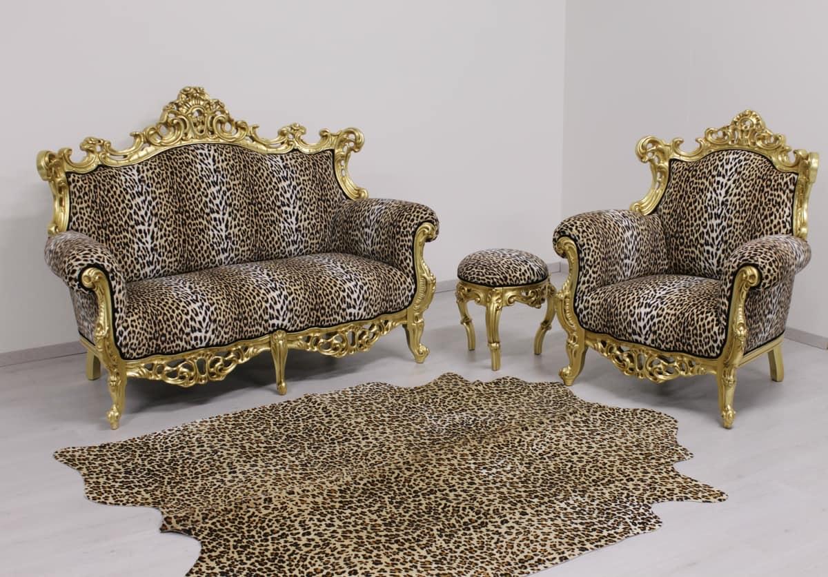 New Baroque Sofa Upholstered In Velvet