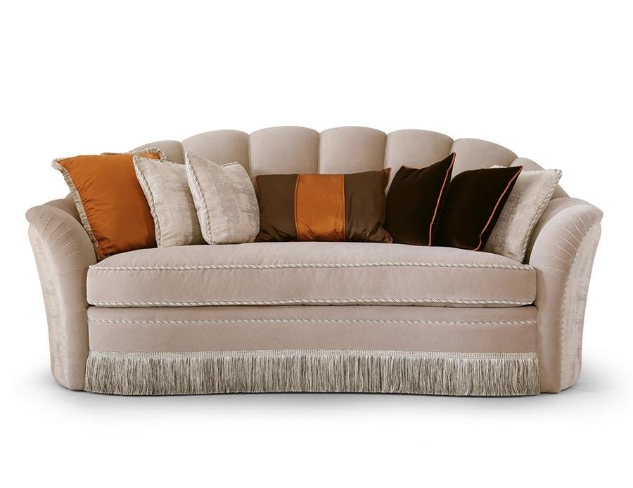 FLORA / sofa, Sofa with soft lines