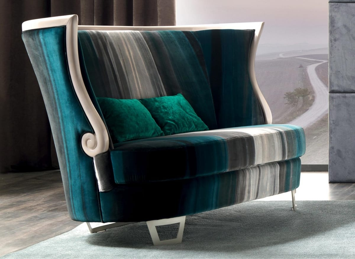 Gaudì Art. 643, Two-seater sofa, with tall backrest