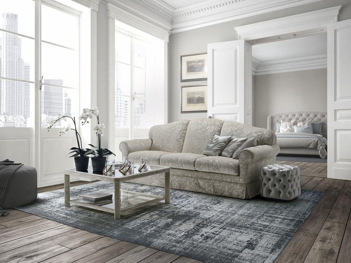 Giacomo, Sofa available with or without ruffles