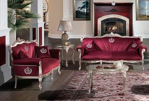 HERMITAGE, Sofa with soft velvet seat