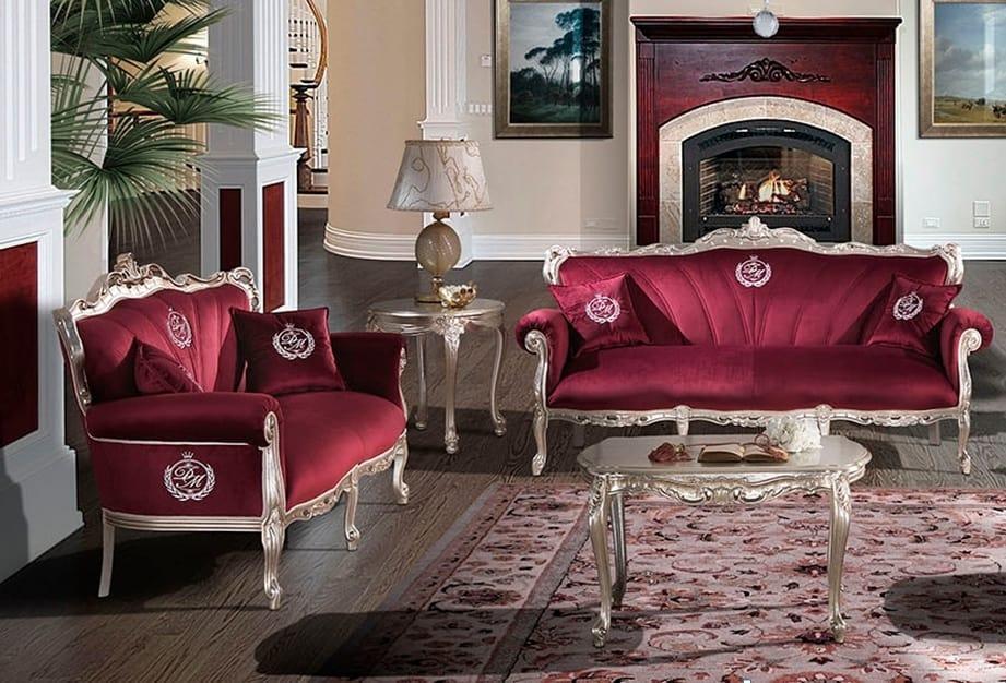 HERMITAGE, Sofa with soft velvet seat
