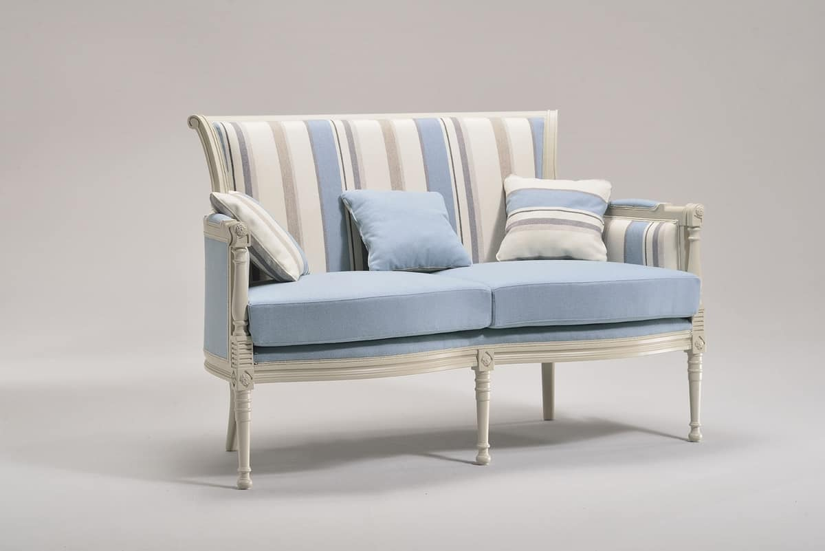 KELLY LARGE sofa 8042L, Sofa in classic style, in beech, for residential use