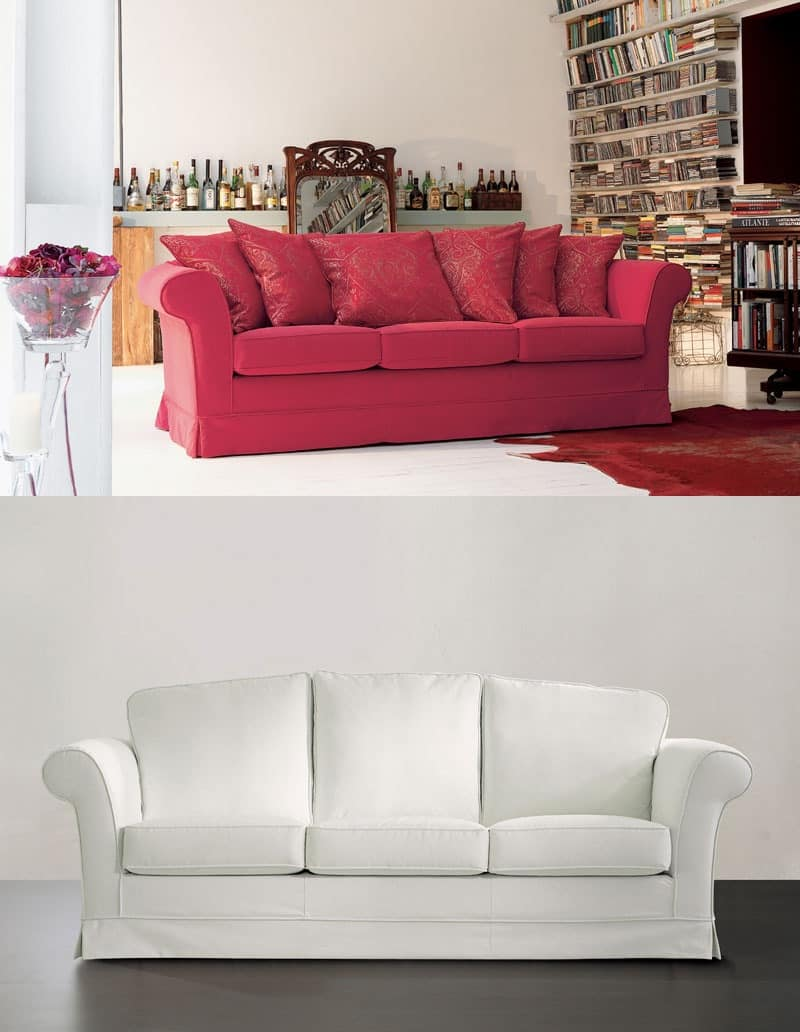 Lord with cushions, Sofa with padded  in differentiated-density polyurethane