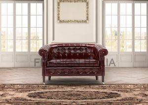 Luxor mini, 2-seater classic style sofa