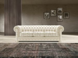 Luxor, Classic style leather sofa