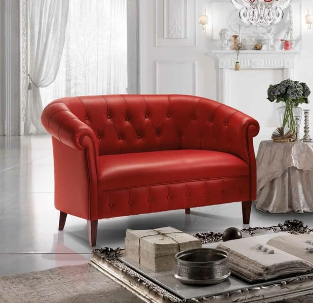 MARGOTT, English style sofa, with capitonné padding