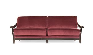 Marlon sofa, Wooden sofa, covered in fabric