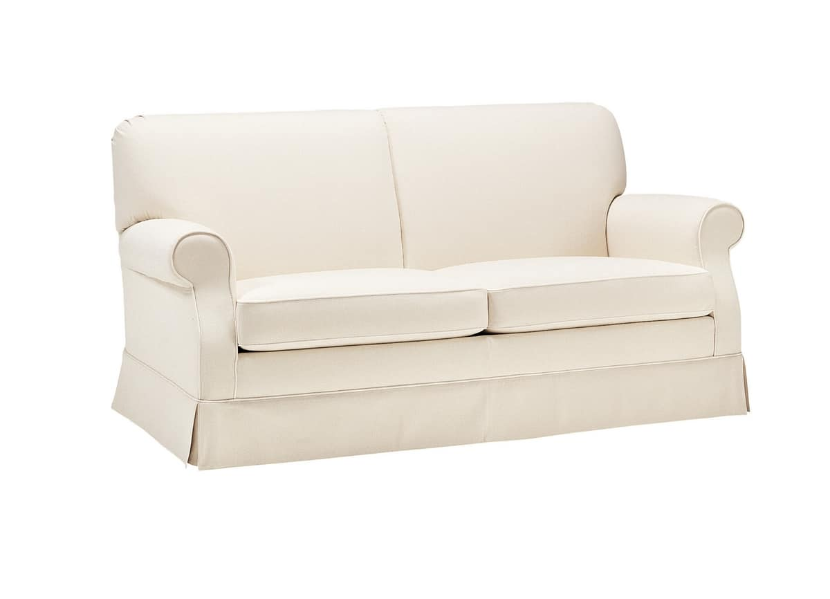 Martina, Classic sofa bed, completely removable cover