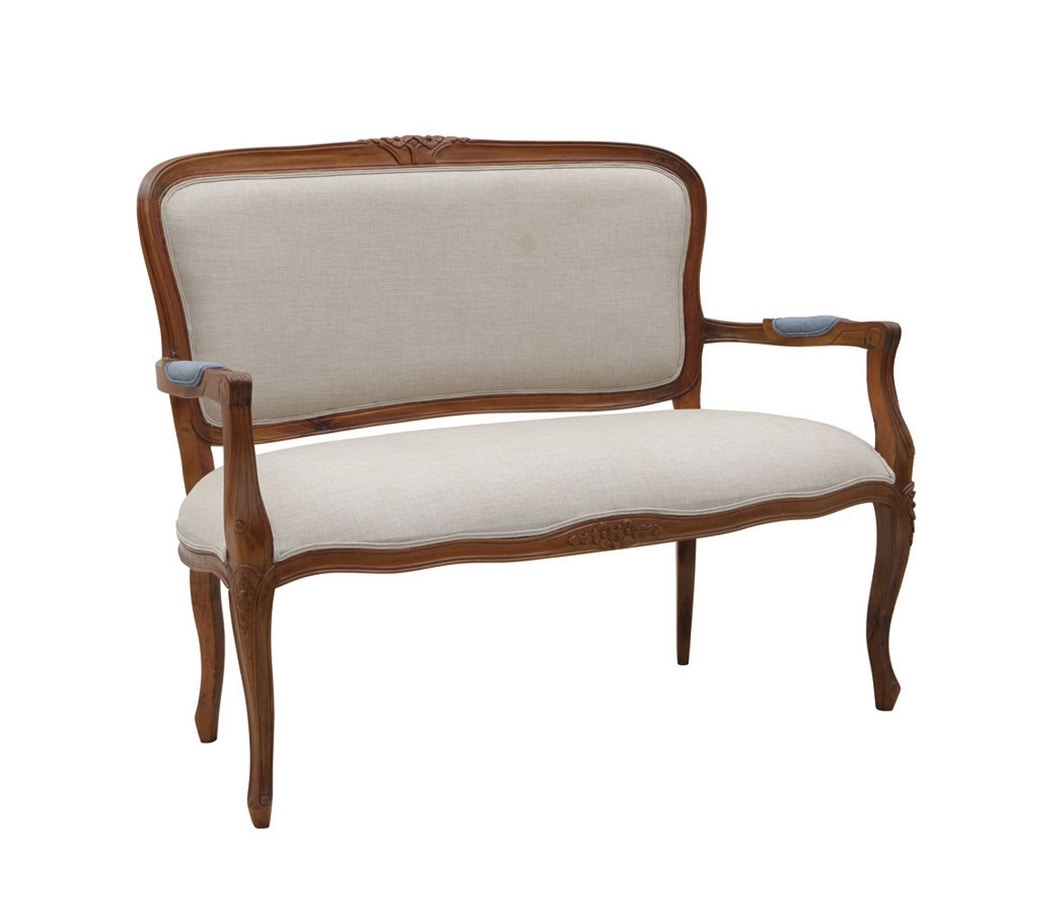 Mozaic 0241, Sofa with armrests, classic design