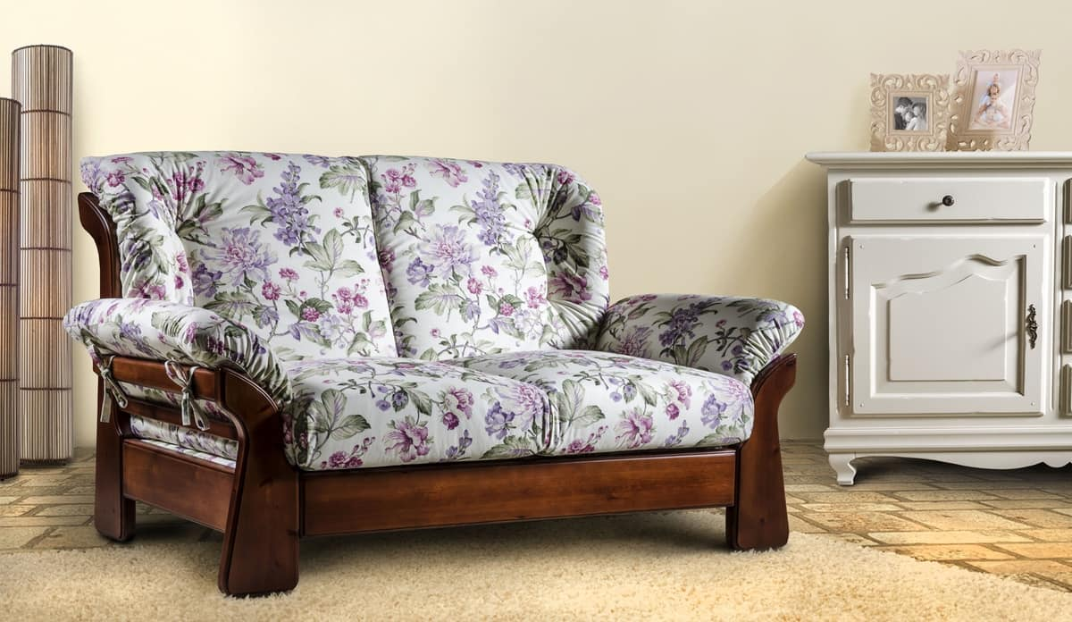 Amazing Country Sofa In Solid Wood Idfdesign Alphanode Cool Chair Designs And Ideas Alphanodeonline