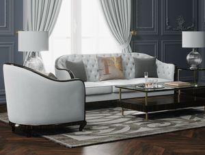 New York/CL sofa, Sofa with enveloping rounded backrest