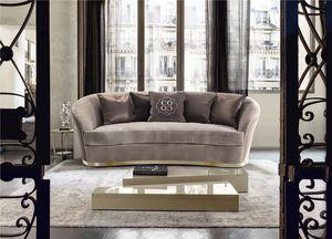 Nora, Elegant sofa with soft shapes