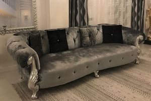 Oceano grey, Sofa manufactured in Brianza, Italy