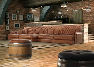 Old, Sofa in capitonn� leather
