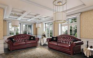 PANAREA sofa, Harmonious sofa, in classic style