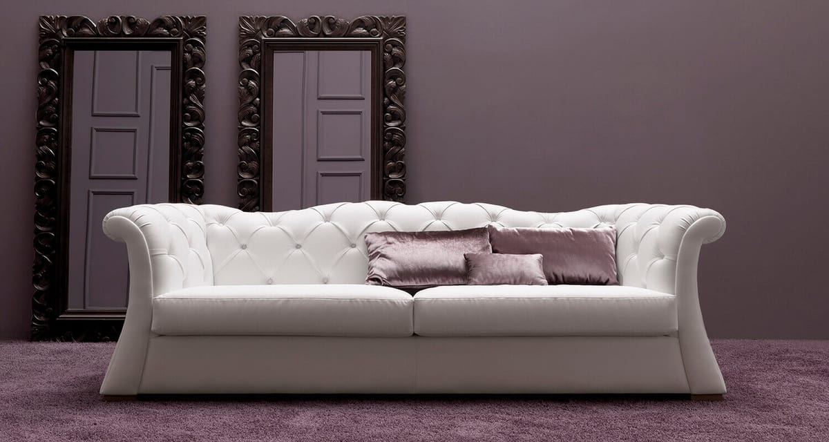 Pascal  Art. 686, Tufted sofa, with great comfort and strength