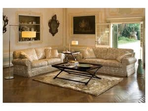 Positano, Classic sofa bed, with removable fabric, feather back