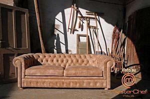 Pozzetto, Classic sofa in Nubuck leather, with capitonn�