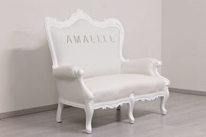 Regale, White baroque sofa