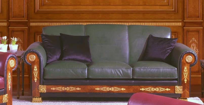 Sofa In Leather Made To Measure