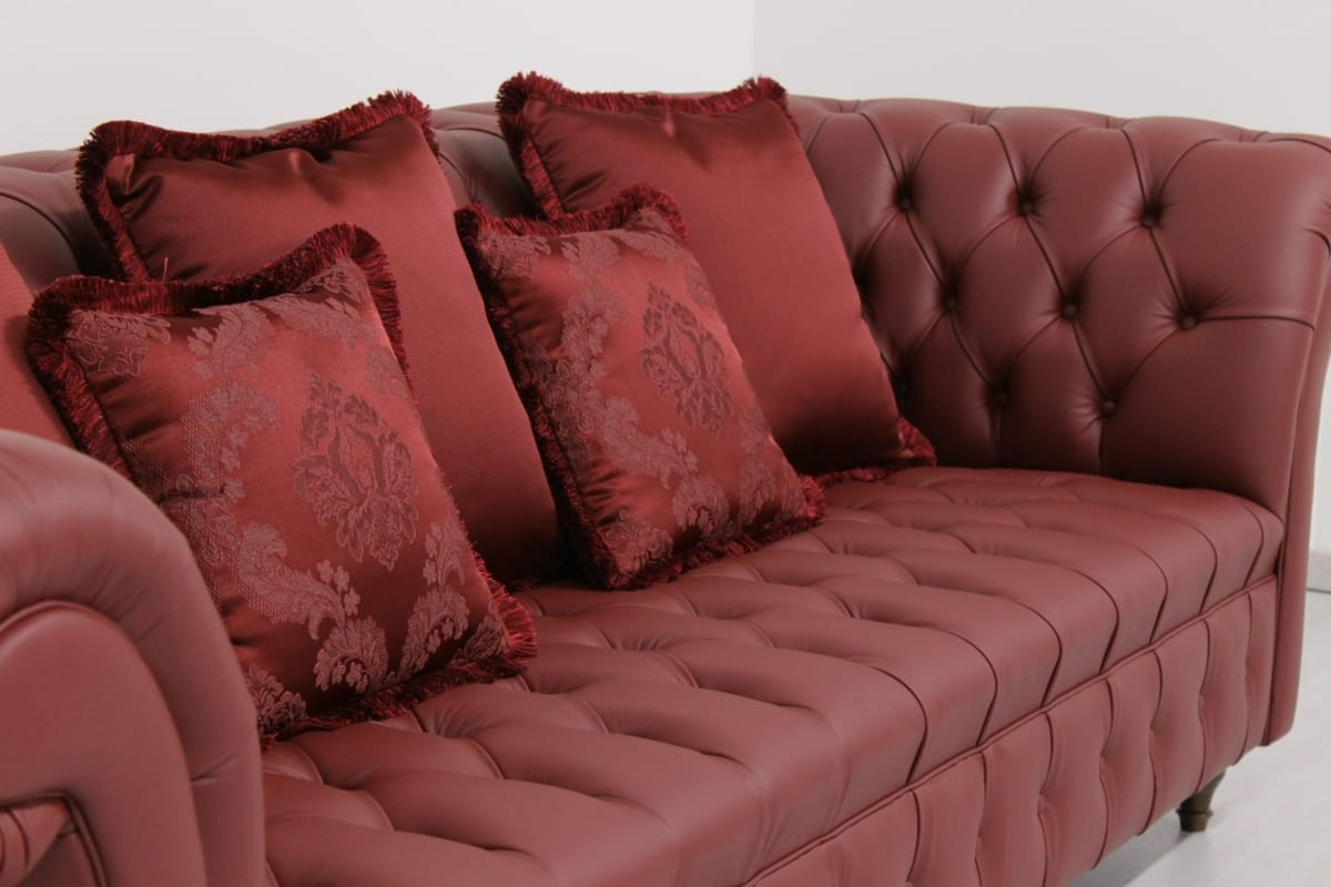 Swing, Sofa in English Chesterfield style