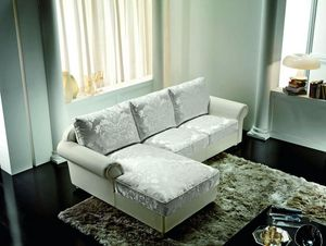 Tiffany, Classic sofa with chaise longue