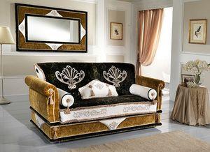 UNIQUE, Sofa with decorative cushions