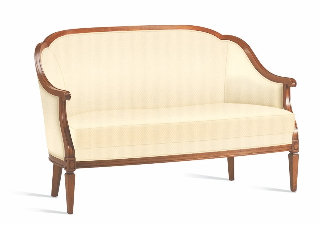 Villa Borghese sofa 1375, Directoire style 2-seater sofa