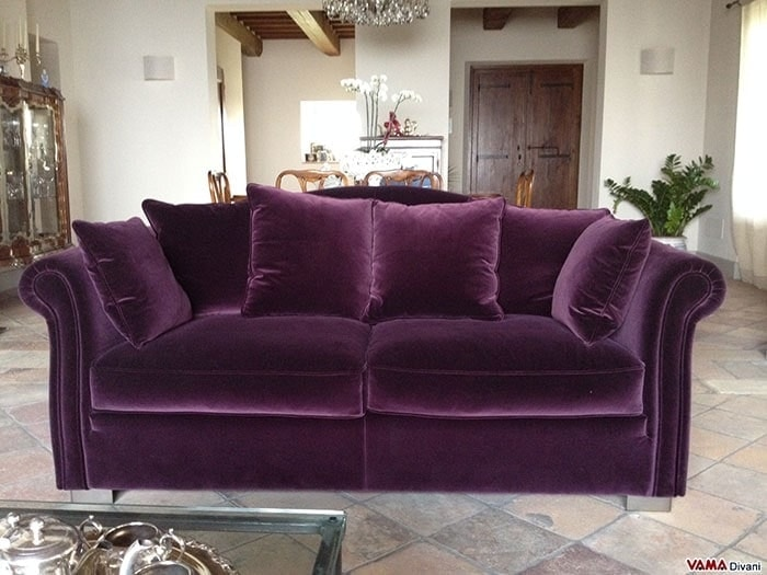 Ville sofa, Elegant sofa in removable fabric