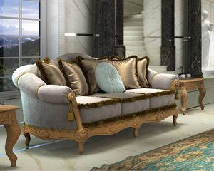Zaffiro Art. 8211 - 8221, Sofa with precious carvings