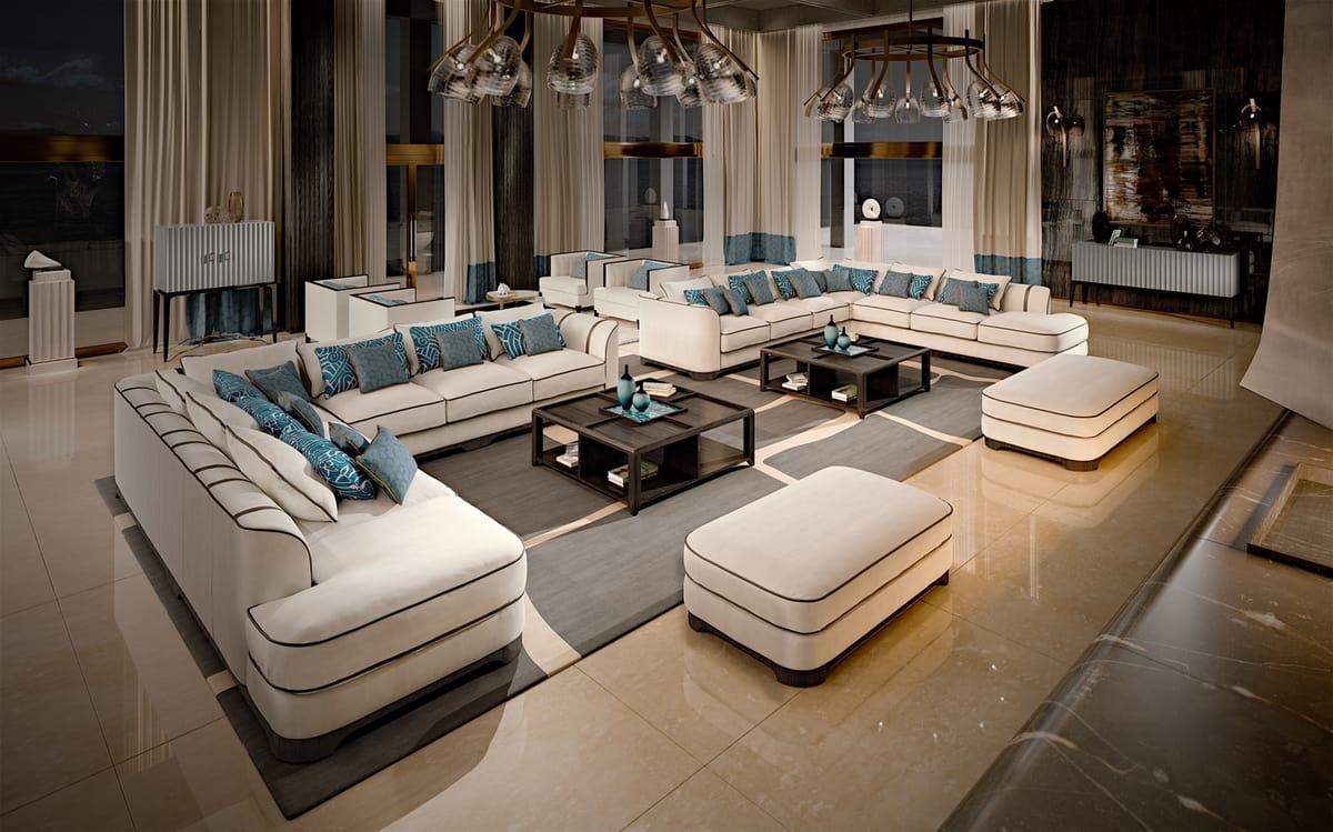 2016-46 Sofa, Modular sofa in nubuck leather