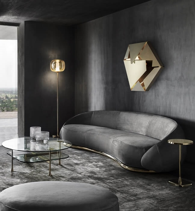 Abbracci Sofa, Sofa with rounded shapes