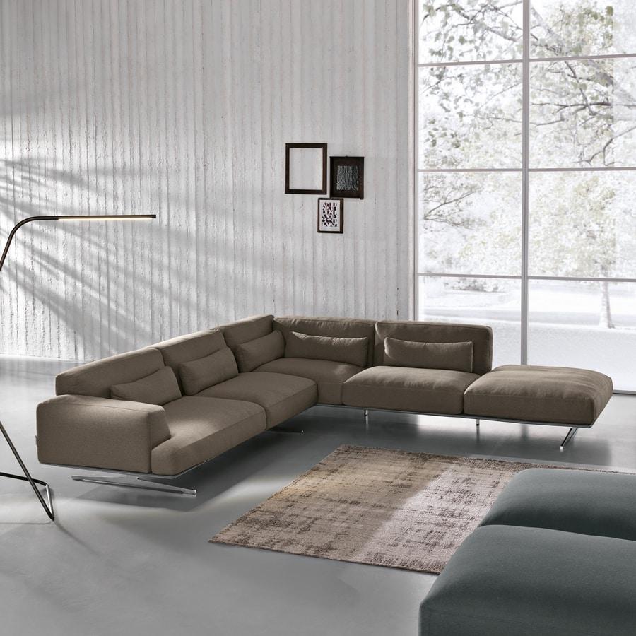 Albachiara, Large sofa covered in leather