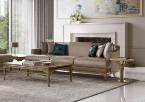 Alexander Art. A82 - A83, Sofa upholstered in leather