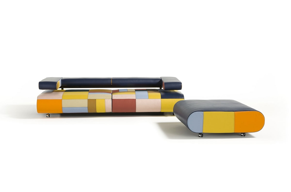 Alice, Colorful sofa with an eclectic design