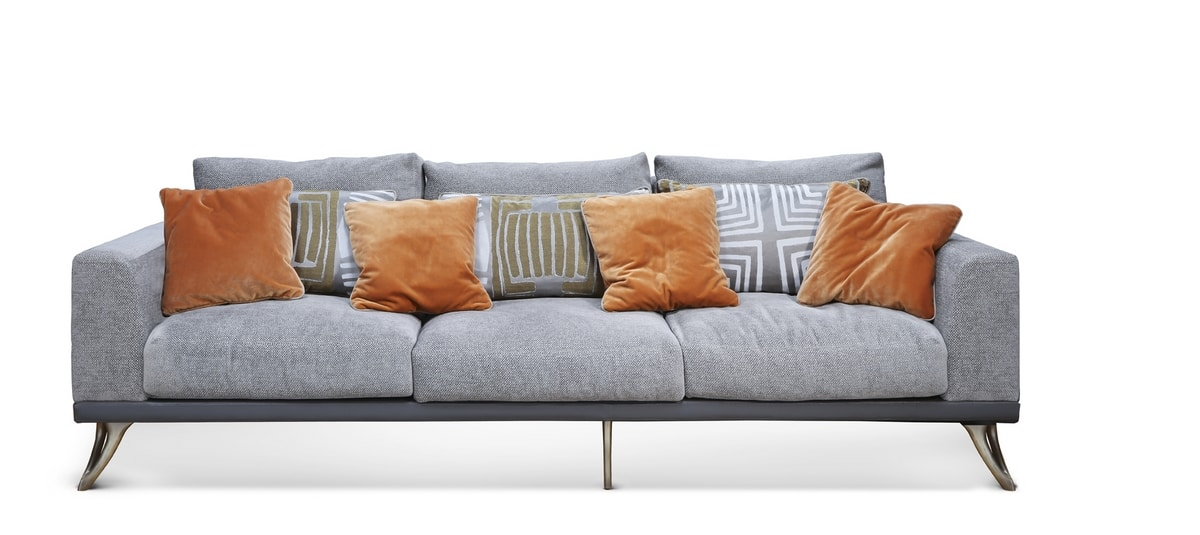 ARES sofa GEA Collection, Sofa with chaise longue covered in leather