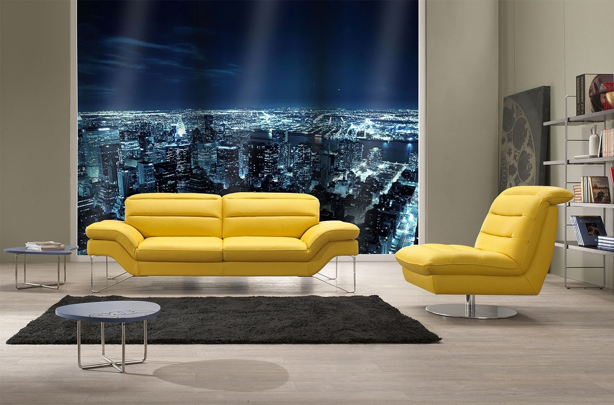 Audrey, Sofa with sinuous structure