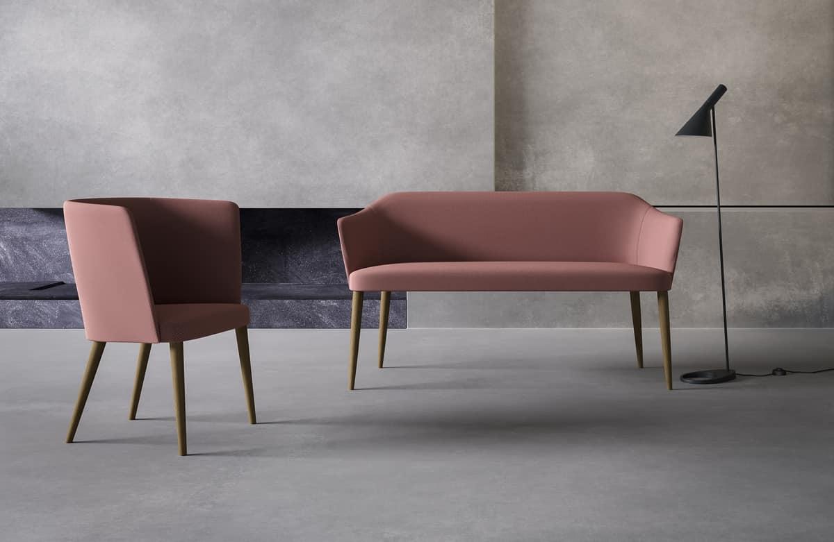 Axel 80B_4L/FU, Sofa for lounge areas
