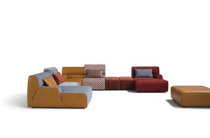 Babouche, Modular sofa, with electric relaxation functions