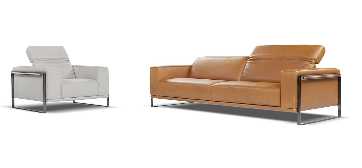Superb Leather Sofa With Adjustable Back Idfdesign Ncnpc Chair Design For Home Ncnpcorg