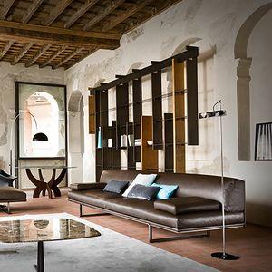 Blumun, 3 seater sofa in leather