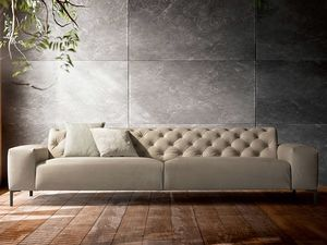 Boston capitonné, Comfortable sofa, with a refined design