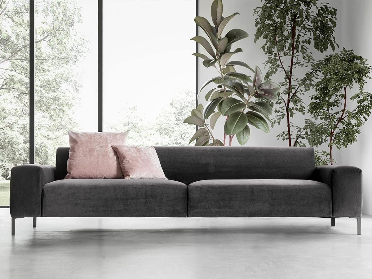 Boston liscio, Comfortable sofa, with a refined design