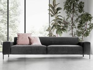 Boston liscio, Comfortable sofa, with a refined design