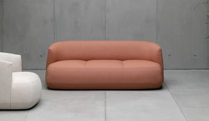 Brioni Up sofa, Sofa with rounded lines