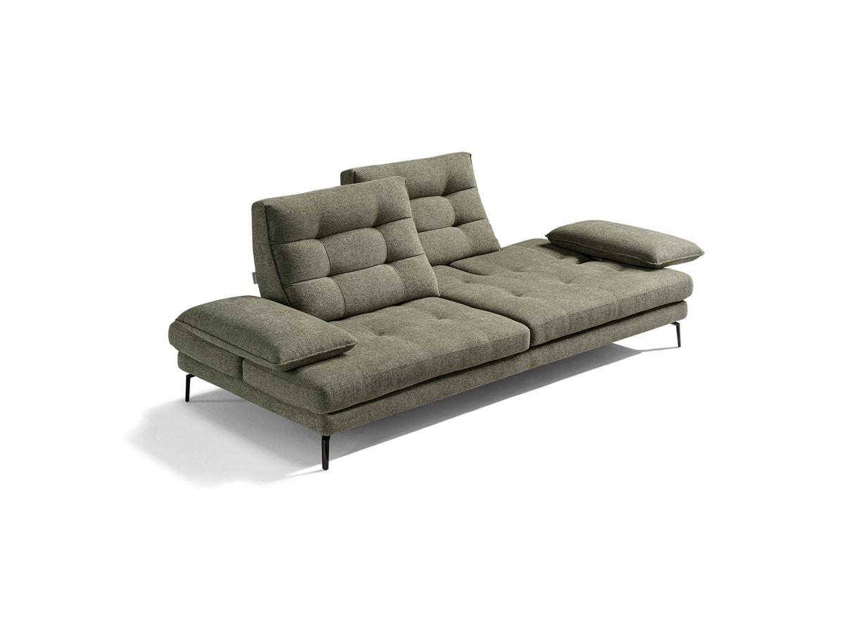 Bucci, Sofa with ergonomic design