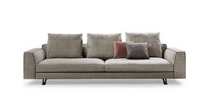 Burton, Design sofa with goose down pillows